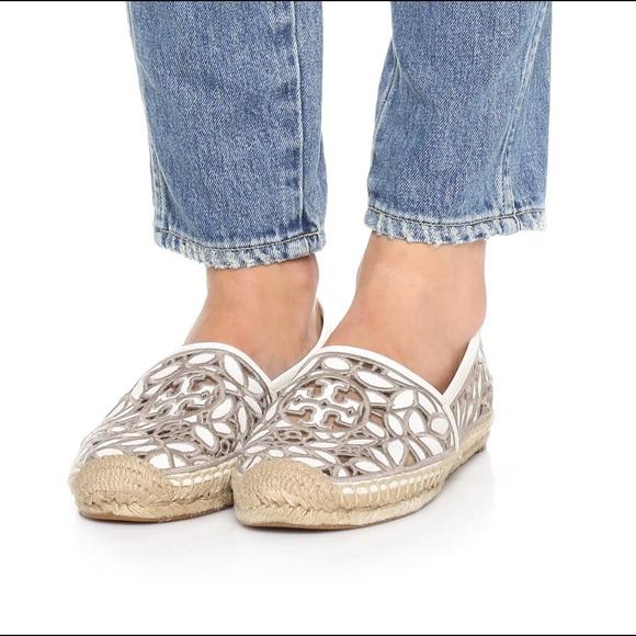 0844a0425c3 Tory Burch Shoes   Rhea Lace Espadrilles Ivory Cement 11   Poshmark